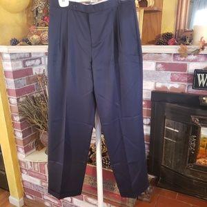 RALPH LAUREN GOLF NAVY BLUE CUFFED PANTS 12